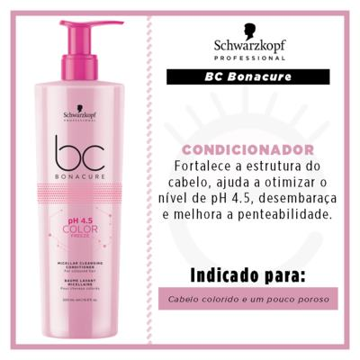 Imagem 2 do produto Schwarzkopf Professional pH 4.5 Color Freeze Micelar Cleansing - Condicionador - 500ml