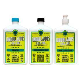 Kit Ondulados Lola Cosmetics - Shampoo + Condicionador + Creme de Pentear - Kit