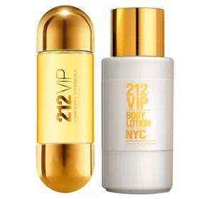 Kit 212 Vip Carolina Herrera - Eau de Parfum + Body Lotion - Kit