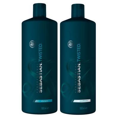 Kit Twisted Elastic Detangler Sebastian - Shampoo + Condicionador - Tamanho Profissional - Kit