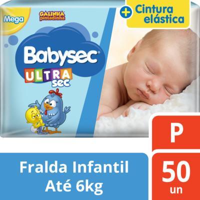 Kit Fralda Babysec Galinha Pintadinha Ultrasec Mega P 300 Unidades
