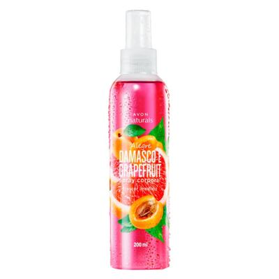 Imagem 1 do produto Spray Corporal Perfumado Naturals Alegre Damasco e Grapefruit - 200 ml