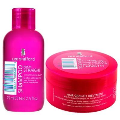 Imagem 1 do produto Kit Shampoo+ Máscara Lee Stafford Poker Straight + Hair Growth Treatment - Kit