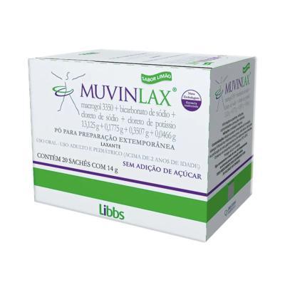 Muvinlax - Sabor Limão | 20 Sachês de 14g
