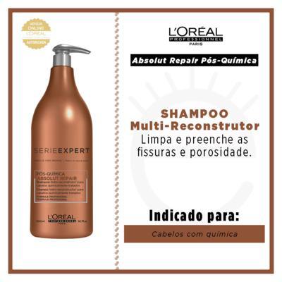 Imagem 4 do produto L'Oréal Professionnel Absolut Repair Pós-Química - Shampoo Multi-Reconstrutor - 1500ml