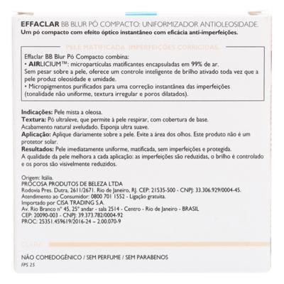 Imagem 6 do produto Effaclar BB Blur Fps 25 La Roche-Posay- Pó Compacto - Clara