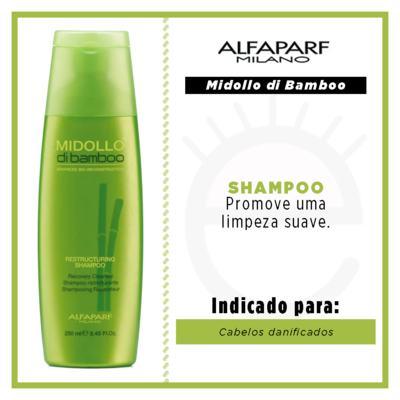 Imagem 4 do produto Alfaparf Midollo di Bamboo Restructuring  - Shampoo - 250ml
