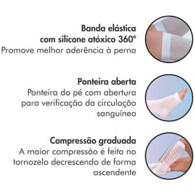 Imagem 4 do produto Meia 7/8 Coxa AF 400S 18-23 Mmhg Anti-Trombo Ponteira Aberta - Meia 7/8 Coxa AF 400S 18-23 Mmhg Anti-Trombo Ponteira Aberta Média