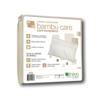 Imagem 1 do produto Capa Protetora Impermeável para Travesseiro Bambu Care 50X70 Theva