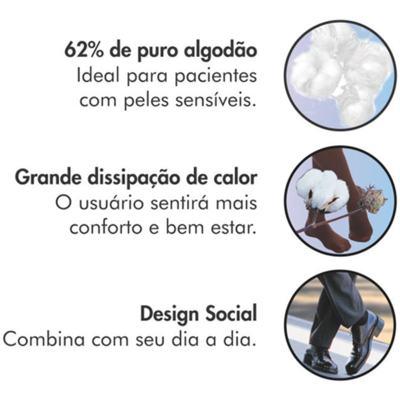 Imagem 8 do produto Meia 3/4 Panturrilha 282 F Cotton Comfort 20-30 Mmhg Ponteira Fechada Sigvaris - Meia 3/4 Panturrilha 282 F Cotton Comfort 20-30 Mmhg Ponteira Fechada Sigvaris Grande Normal Marrom