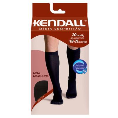 Imagem 6 do produto MEIA PANTURRILHA MASCULINA 18-21 MEDIA KENDALL - PRETO PONTEIRA FECHADA M KENDAL
