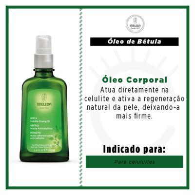 Imagem 2 do produto Óleo de Bétula para Celulite Weleda - Óleo Corporal - 100ml