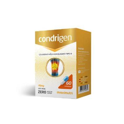 Imagem 1 do produto Condrigen Colágeno Tipo II 40mg 60cps Maxinutri