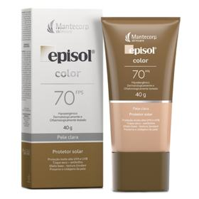 Protetor Solar Facial Episol Color - FPS 70 - Pele Clara | 40g
