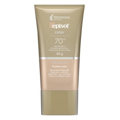 Protetor Solar Facial Episol Color FPS70 - Pele Extra Clara | 40g