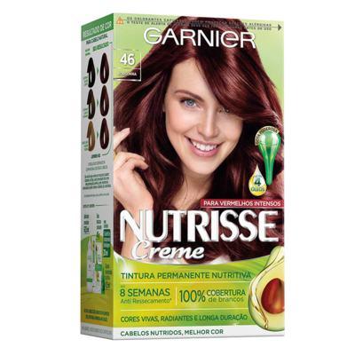 Coloração Garnier Nutrisse Creme - 46 Castanho Vermelho | 1 unidade
