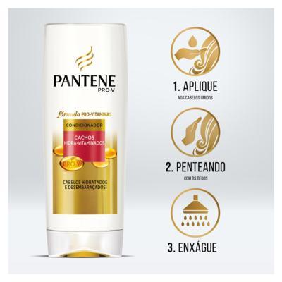Imagem 2 do produto Condicionador Pantene - Cachos Hidra-Vitaminados | 175ml