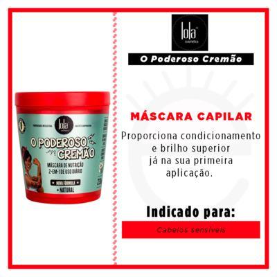 Imagem 2 do produto Lola Cosmetics O Poderoso Cremão 2 em 1 - Máscara Capilar - 230g