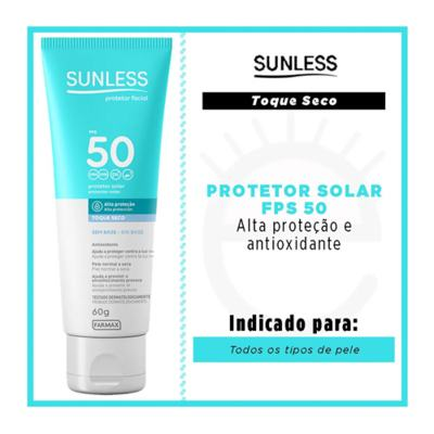 Imagem 2 do produto Protetor Solar Facial FPS 50 Sunless - 60g