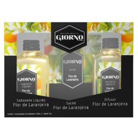 Kit Flor de Laranjeira Giorno - Difusor + Sabonete Liquido + Sachê