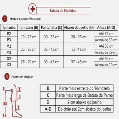 Imagem 4 do produto Meia Panturrilha AD 30-40 Comfortline Venosan - PONTEIRA ABERTA LONGA BEGE M