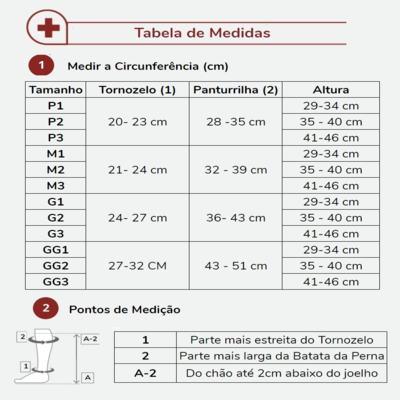 Imagem 5 do produto MEIA PANTURRILHA 20-30 COMFORT PREMIUM SIGVARIS - CURTA PRETO PONTEIRA FECHADA G