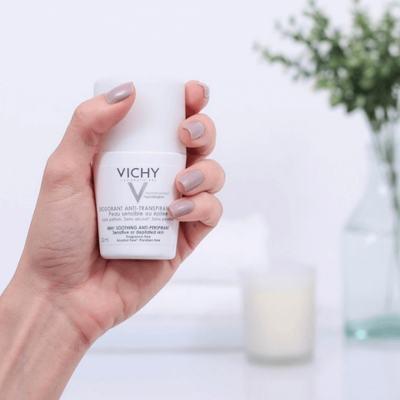 Imagem 8 do produto Desodorante 48H Vichy - Desodorante Roll-On para Peles Muito Sensíveis ou Depiladas - 50ml