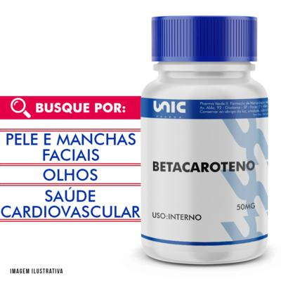 Imagem 1 do produto Betacaroteno 50mg - 90 Cápsulas