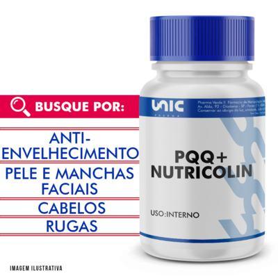 Imagem 1 do produto Pqq + nutricolin  com selo de autenticidade - 120 Cápsulas