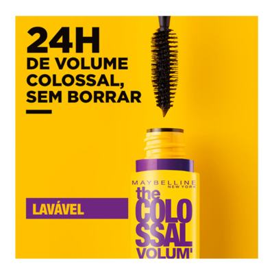 Imagem 8 do produto The Colossal Volum' Express Lavável  Maybelline - Máscara para Cílios - Preto