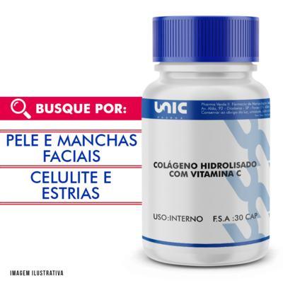 Imagem 1 do produto Colágeno hidrolisado 500mg com vit C 300mg 30 doses