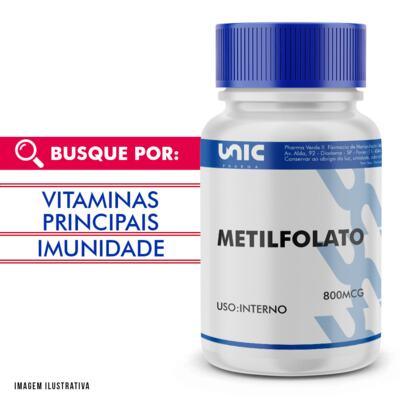 Imagem 1 do produto METILFOLATO 800MCG - 90 Cápsulas
