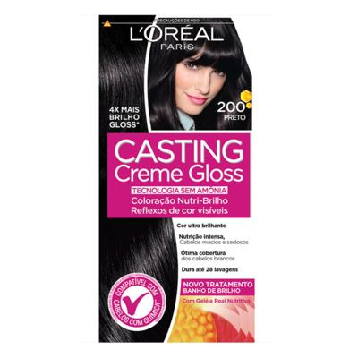 Tintura Semi-Permanente Casting Creme Gloss - 200 Preto | 1 unidade