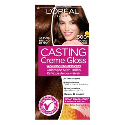 Imagem 3 do produto Coloração Casting Creme Gloss L'Oréal Paris - 500 Castanho Claro
