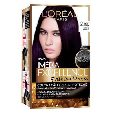 Coloração Imédia Excellence Fashion Paris - 2.160 Preto Couro | 1 unidade