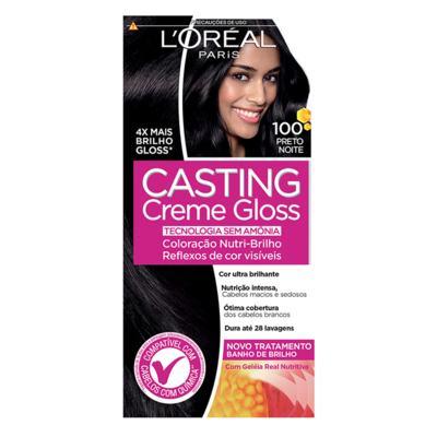 Tintura Semi-Permanente Casting Creme Gloss - 100 Preto Noite | 1 unidade