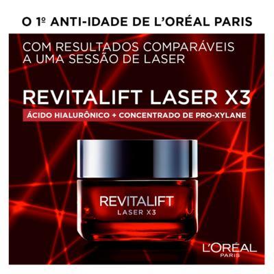 Imagem 10 do produto Creme Anti-Idade L'Oréal Paris Revitalift Laser X3 Diurno - 50ml