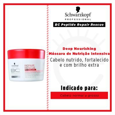 Imagem 3 do produto Schwarzkopf Professional BC Peptide Repair Rescue Deep Nourishing - Máscara de Nutrição Intensiva - 200ml