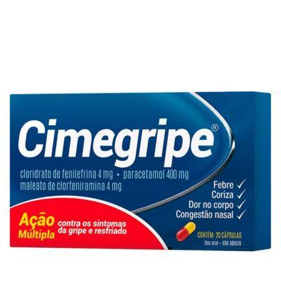 Imagem 2 do produto Cimegripe   Cimed - 400mg   20 capsulas