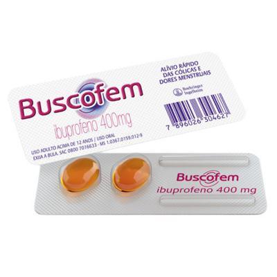 Buscofem - 400mg   2 cápsulas líquidas