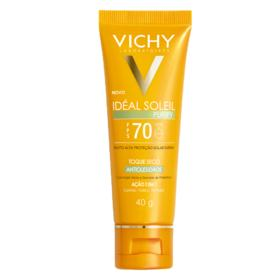 Protetor Solar Vichy - Idéal Soleil Purify FPS 70 - 40g