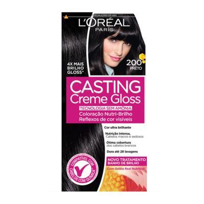 Imagem 4 do produto Coloração Casting Creme Gloss L'Oréal Paris - 200 preto
