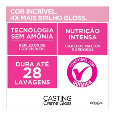 Imagem 6 do produto Coloração Casting Creme Gloss L'Oréal Paris - 500 Castanho Claro