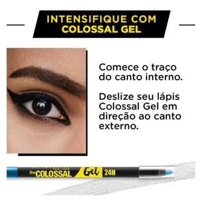 Imagem 4 do produto Lápis Delineador Maybelline Colossal Gel - Platina Pura