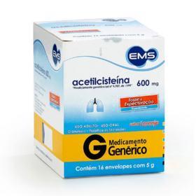 Acetilcisteína Genérico Eurofarma - 600mg | 16 unidades