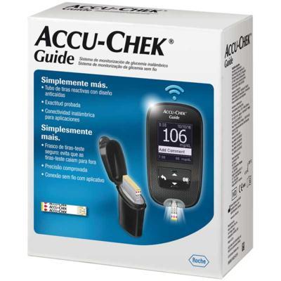 Kit Accu-Chek Guide Monitor+10 Tiras +Lancetador + 6 Lancetas - 1 unidade
