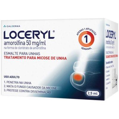 Loceryl - 50mg/ml | 1 frasco com 2,5mL de esmalte de uso dermatológico + 30 compressas + 30 lixas