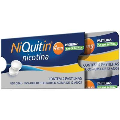 Niquitin Pastilha Menta - 4mg | 4 unidades