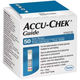 Tiras Medidoras de Glicemia Accu-Chek Guide - 50 unidades