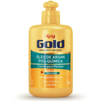 Creme Para Pentear Niely Gold - Óleo de Argan Pós-Química   280g
